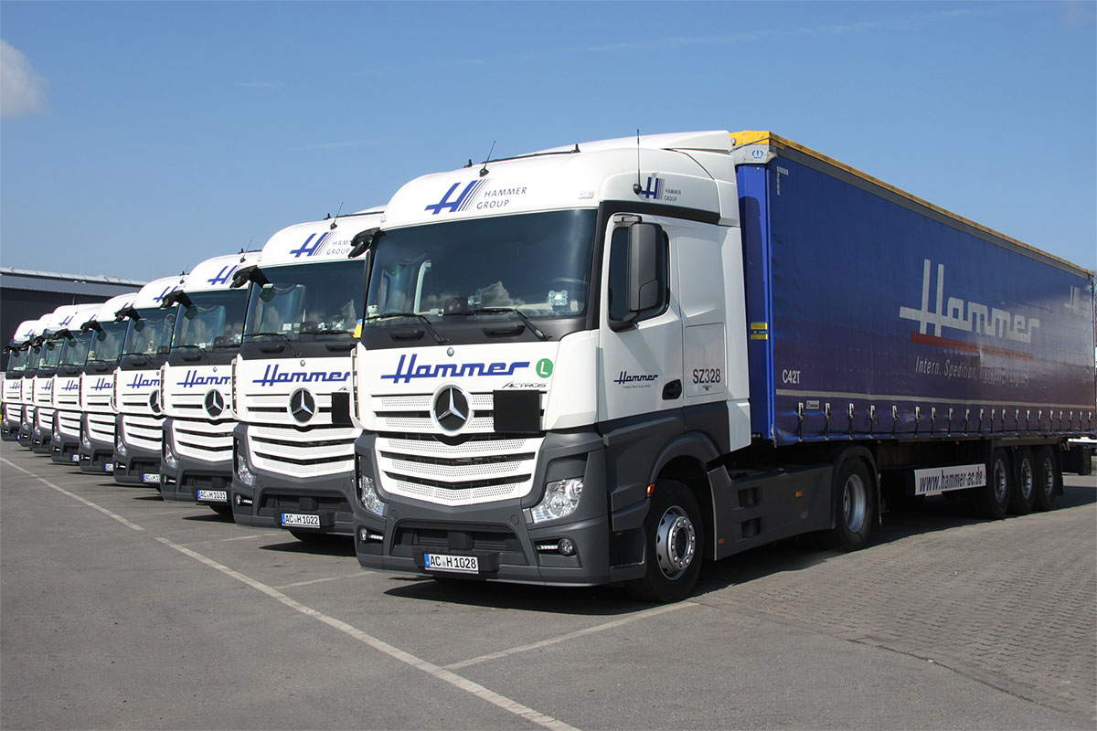 Green Logistics - vehicles fleet with EURO-6-Standard
